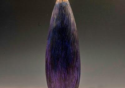 wood, sculpture, fine art, hollow form, Maple, Acrylic paint