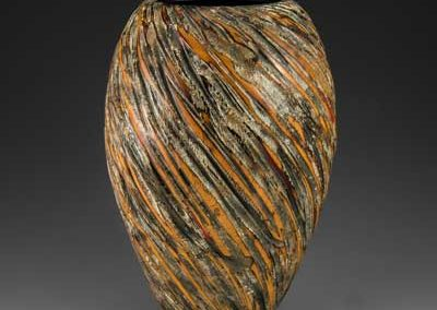 wooden sculpture, hollow form, wood art, wood vessel, poplar, maple, West Indies Mahogany, Milk paint