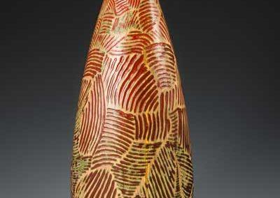 wooden sculpture, hollow form, wood art, wood vessel, poplar, maple