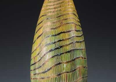 wooden sculpture, hollow form, wood art, wood vessel, poplar, maple, milk paint